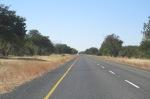 Main road passing through Chobe NP.