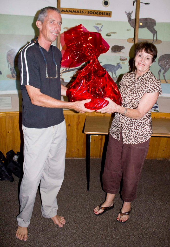Ann Gibson wins the lucky draw - received from Peter Ryan.