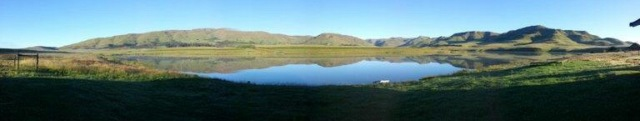 Lake St Bernard - a panoramic view from the cottage.