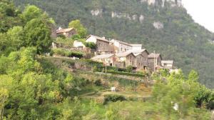 Village on the slopes