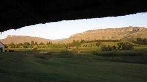 View from the cottage towards the mountains