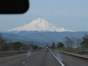 Mount Hood on way to Eugene