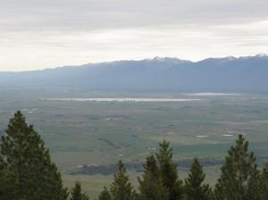 View of Ninepipes from the Bison Range