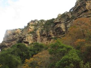 Rock faces in Oribi Gorge