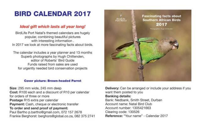 2017 Calendar - BLPN